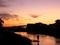 秋の黄昏@高野川畔