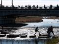 橋を渡る人々@出町柳