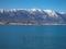 冬の琵琶湖と比良山@守山
