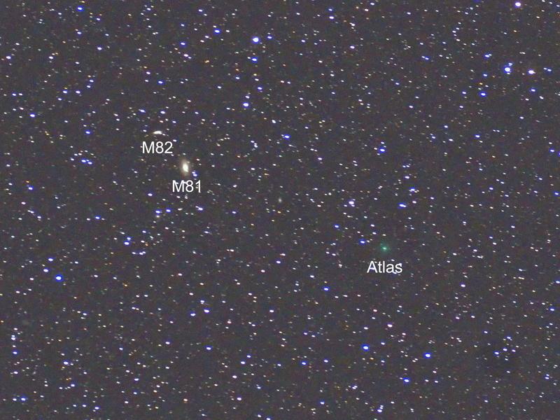 明るくなるかアトラス彗星@花脊峠