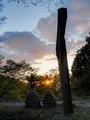 石灯篭と日没@比叡山系