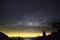 雲間に覗く夏の天の川@おにゅう峠
