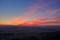 京の夕暮れ@大文字山