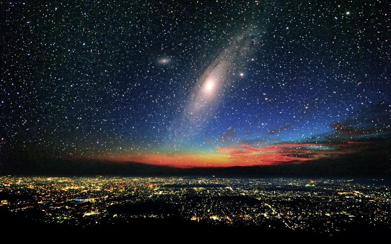 X億年後の地球の夜空