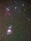 オリオン座三ツ星と大星雲