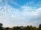 比叡山と秋の空@賀茂川