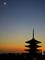 月と法観寺五重塔