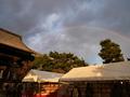 知恩寺の古本市に架かる虹