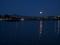 渡月橋とハロウィンの小さな満月