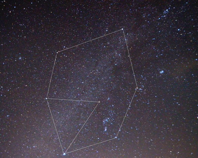 冬のダイヤモンドと大三角形@おにゅう峠