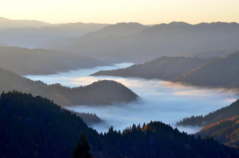 雲海に朝の光@おにゅう峠