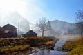 朝霧に包まれる山里@朽木小入谷