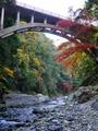 清滝川に架かる落合橋