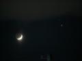 月と木星と土星のランデブー