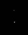 木星と土星のランデブー(2020年12月20日)