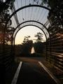 アーチの向こうの噴水@京都府立植物園