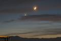 月と金星、火星のランデブー(7月12日)