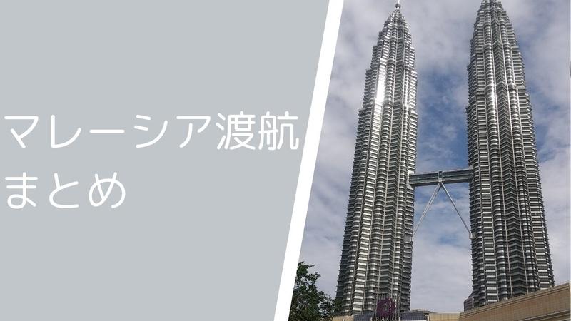 これからマレーシアに渡航する方用まとめ 準備から渡航まで まずはここからご覧ください!