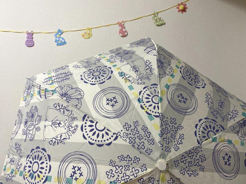 うさぎ柄の傘