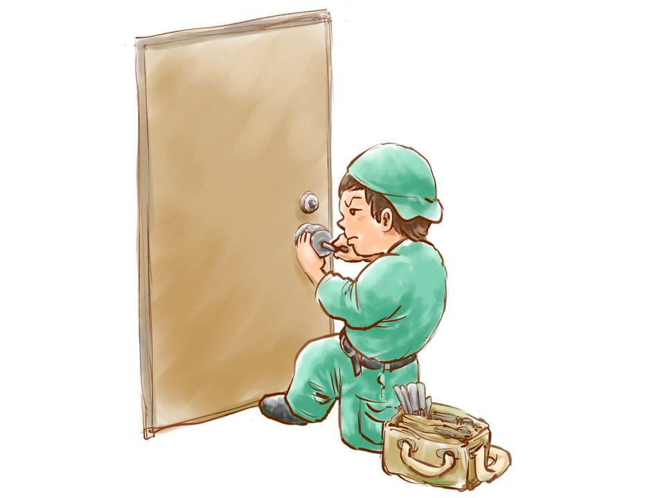 玄関の鍵の修理