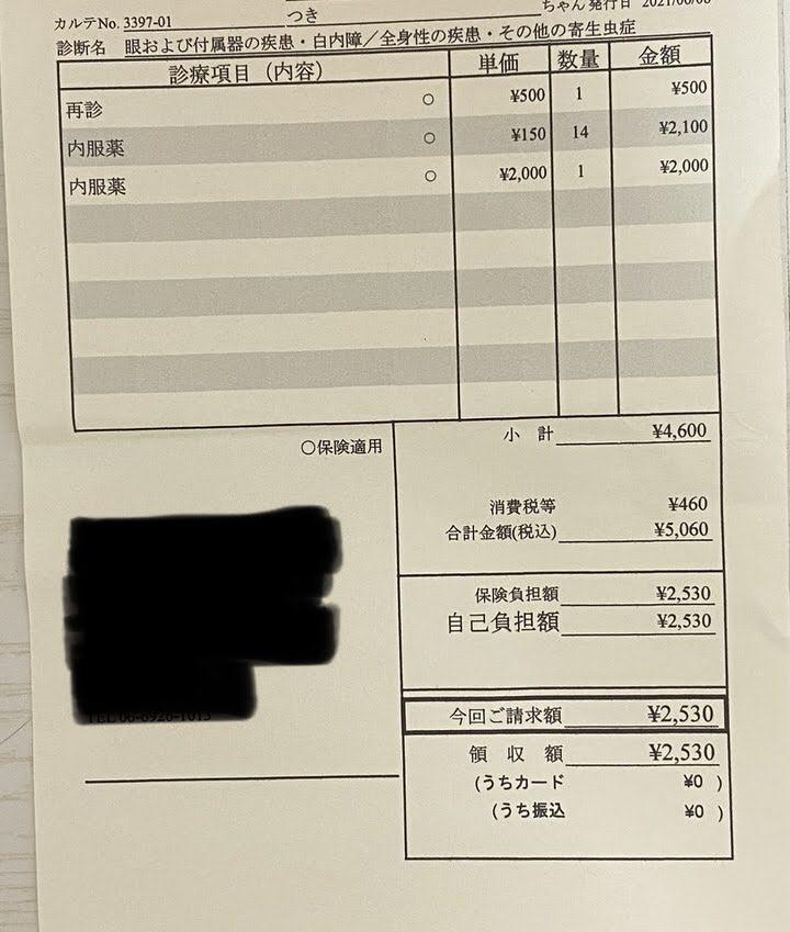 診療費明細書