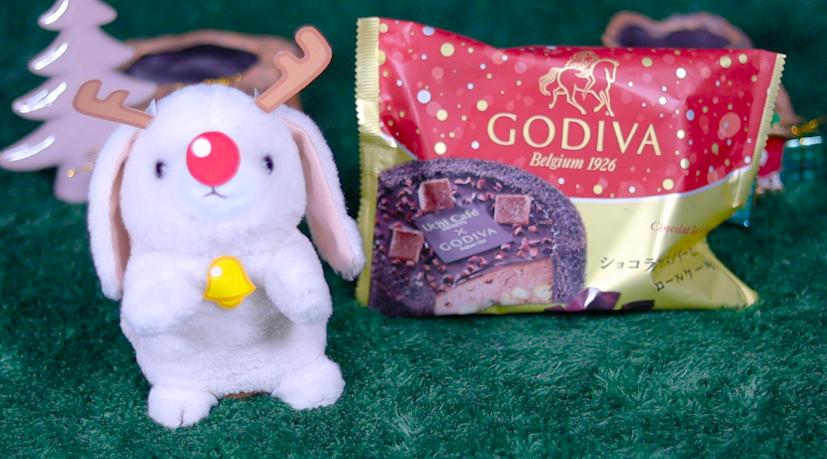 Uchi Café×GODIVA ショコラアイスクリームロールケーキ と うさたん