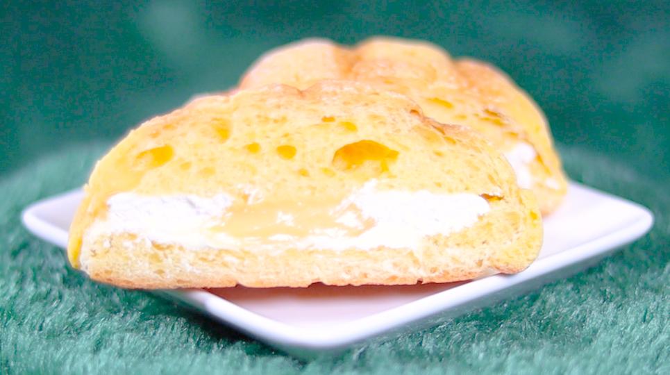 ツインクリームのたまごメロンパン カスタード&ホイップ ローソン LAWSON コンビニスイーツ
