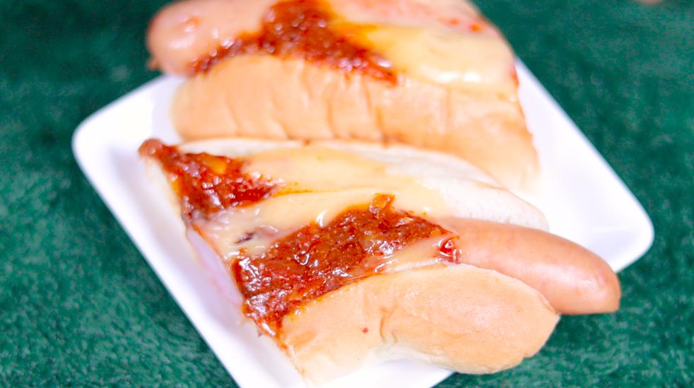 ソースたっぷり 4種チーズチリドッグ セブン セブンイレブン コンビニ ホットドッグ