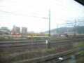 新山口駅構内 ディーゼルカーが留まっている
