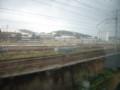 下関駅構内を車窓から