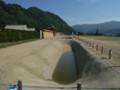 神岡・復元された江馬氏館跡の塀と堀