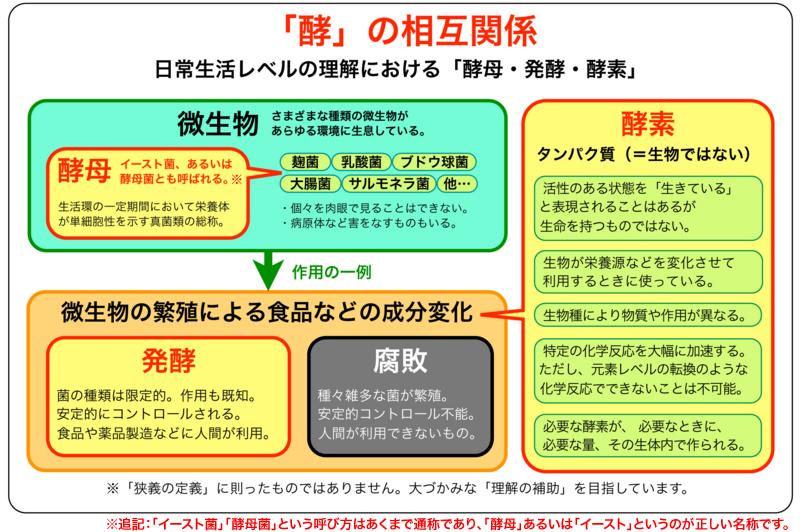 酵素・酵母・発酵の図を 佐久間...