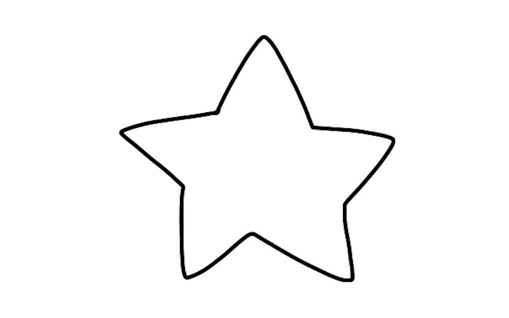 線画状態の星のイラスト