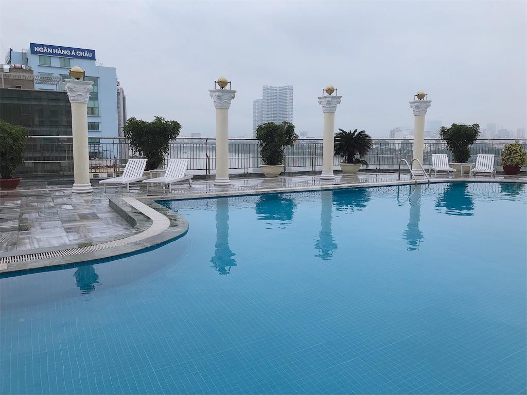センリバーホテルのプール