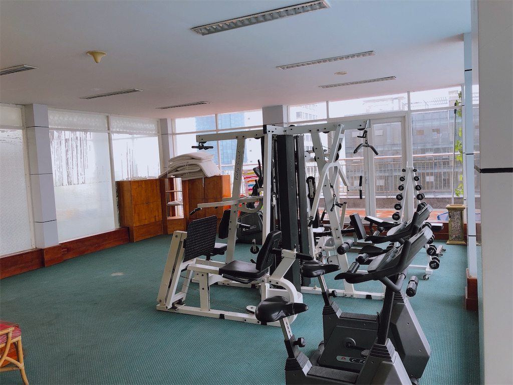 センリバーホテルのトレーニングルーム