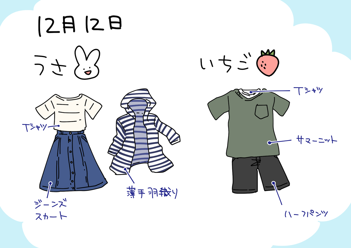 12日服装イラスト