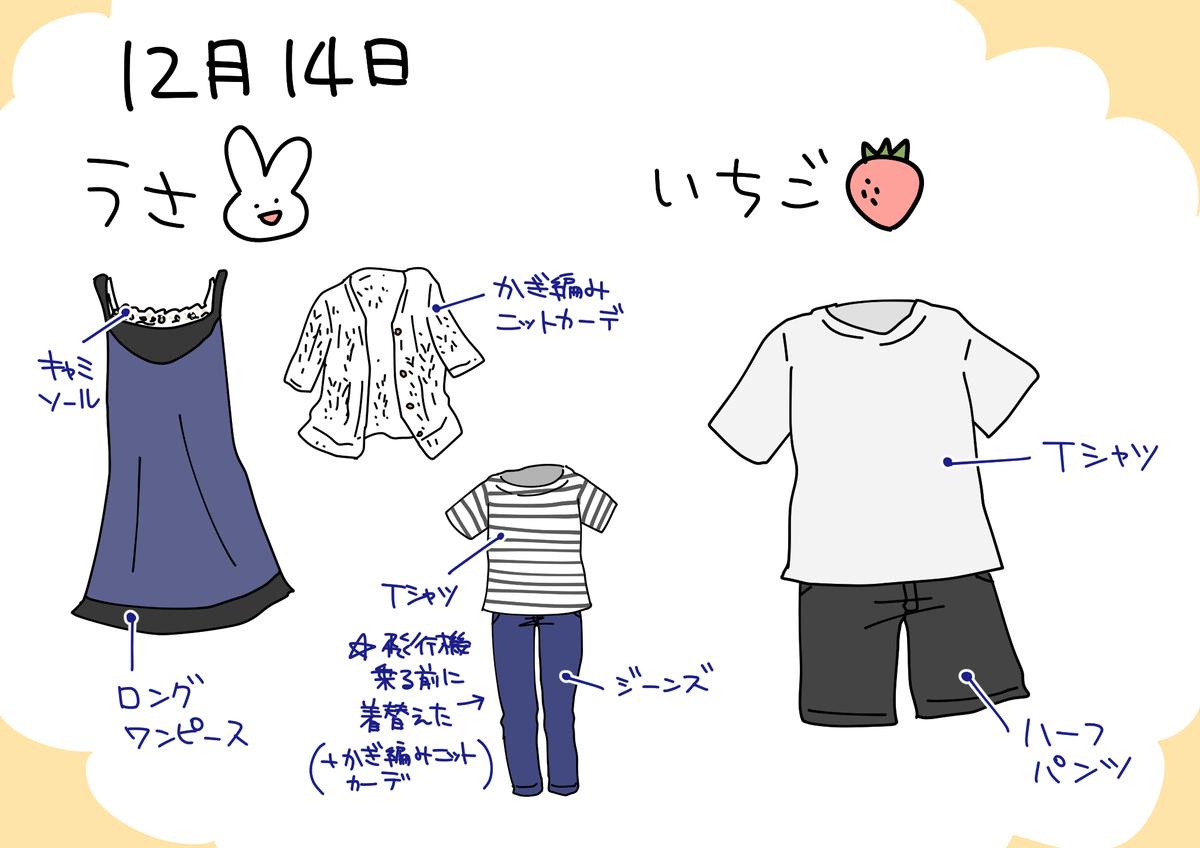14日の服装イラスト