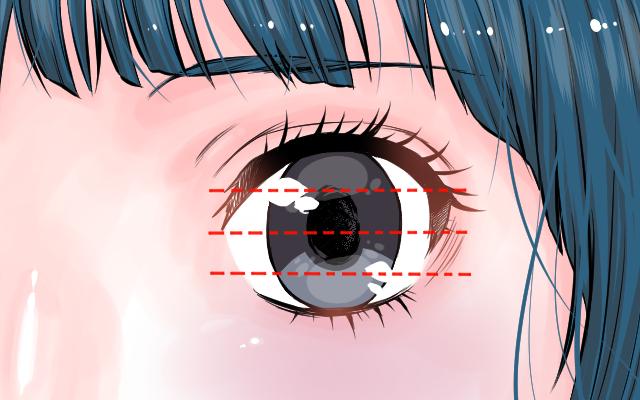 瞳を4等分にしたイラスト