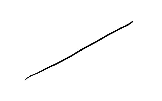 ゆっくり引いた線