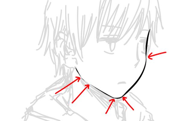 線を切って輪郭線を描いたイラスト