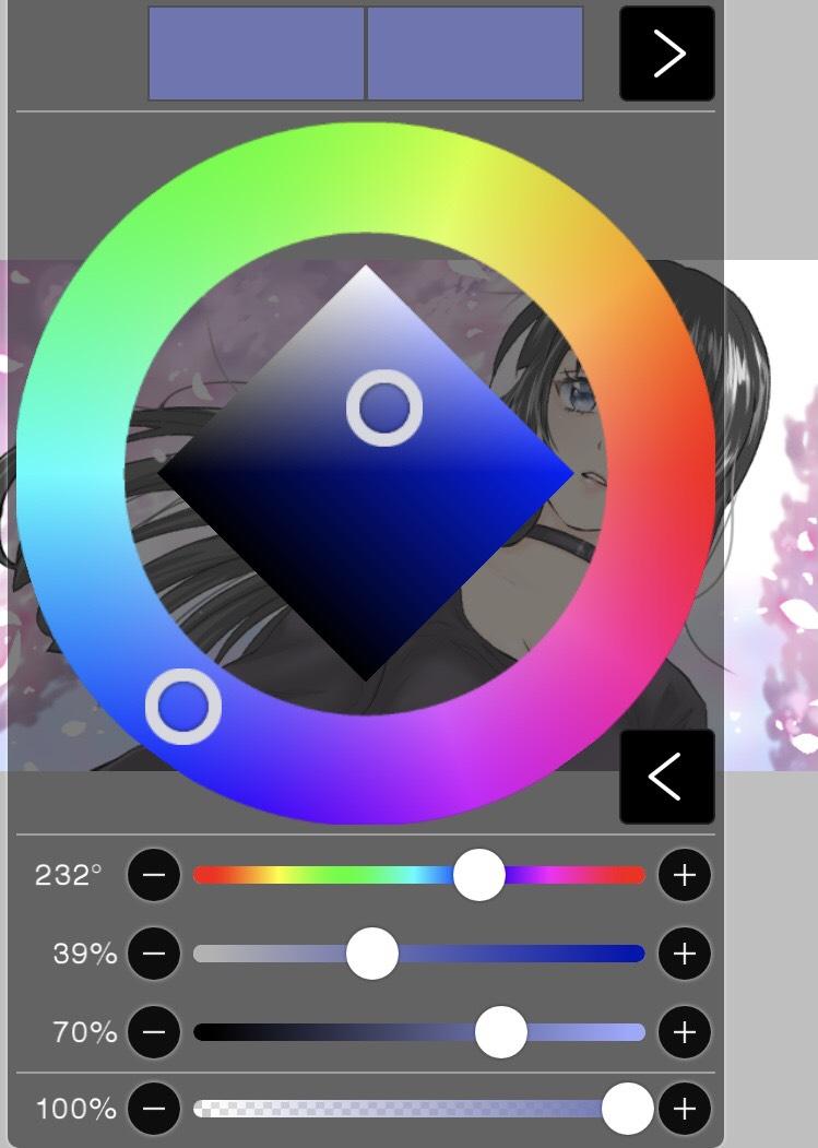 カラー選択時のアイビスペイントの画面