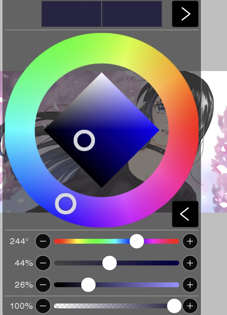 アイビスペイントのカラー選択画面