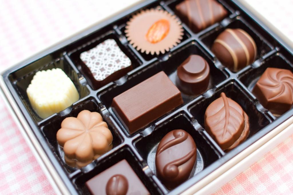 チョコレートを食べてお腹が鳴るのをが防ぐ