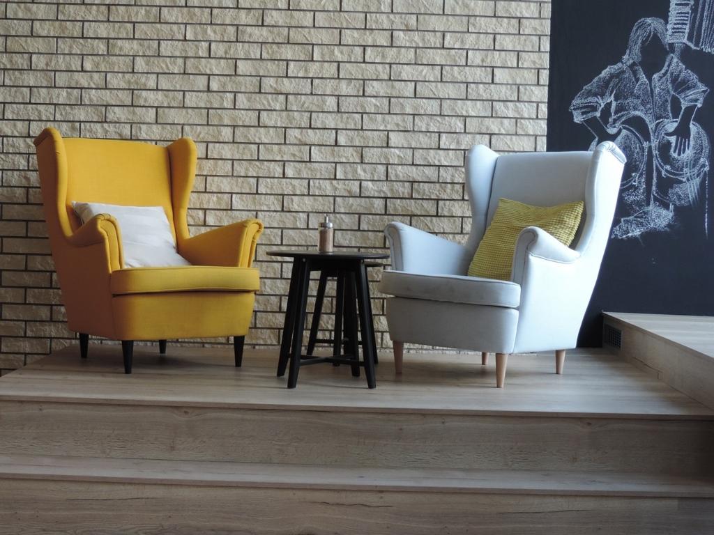 落ち着いた家具でカフェ風のお部屋に