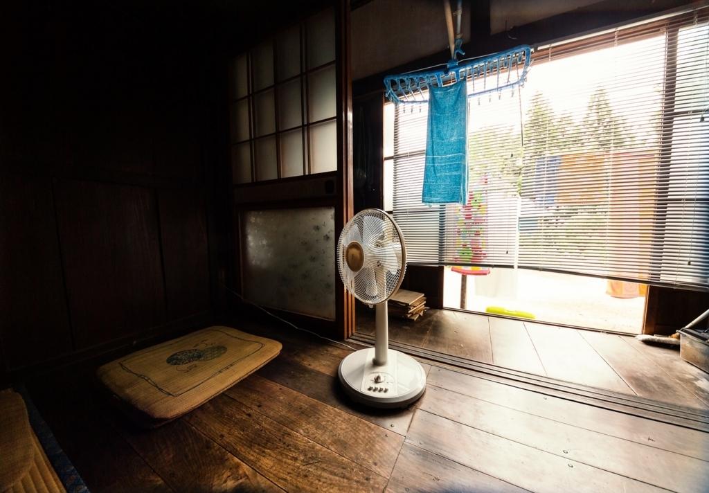 扇風機とハッカ油を組み合わせると涼しい