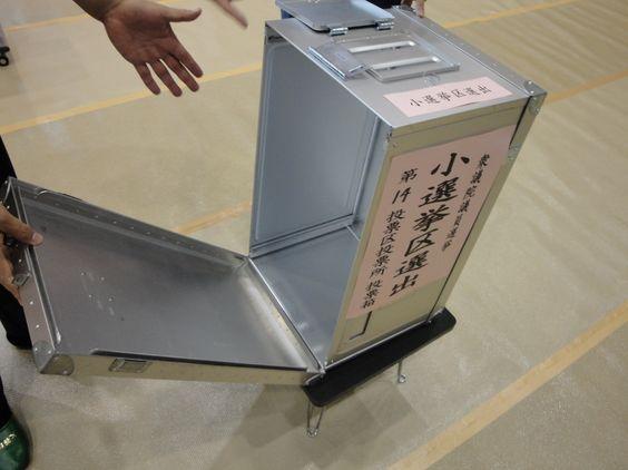 投票所に一番乗りすると投票箱の中を確認できる