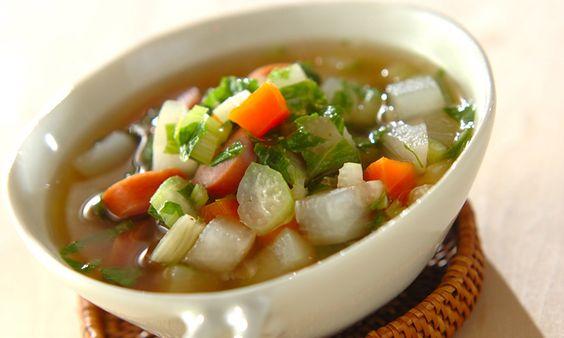 寒い季節は根菜スープを食べよう