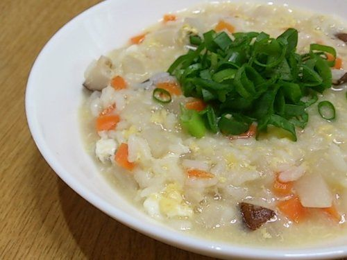 寒い季節は根菜類の雑炊を食べよう