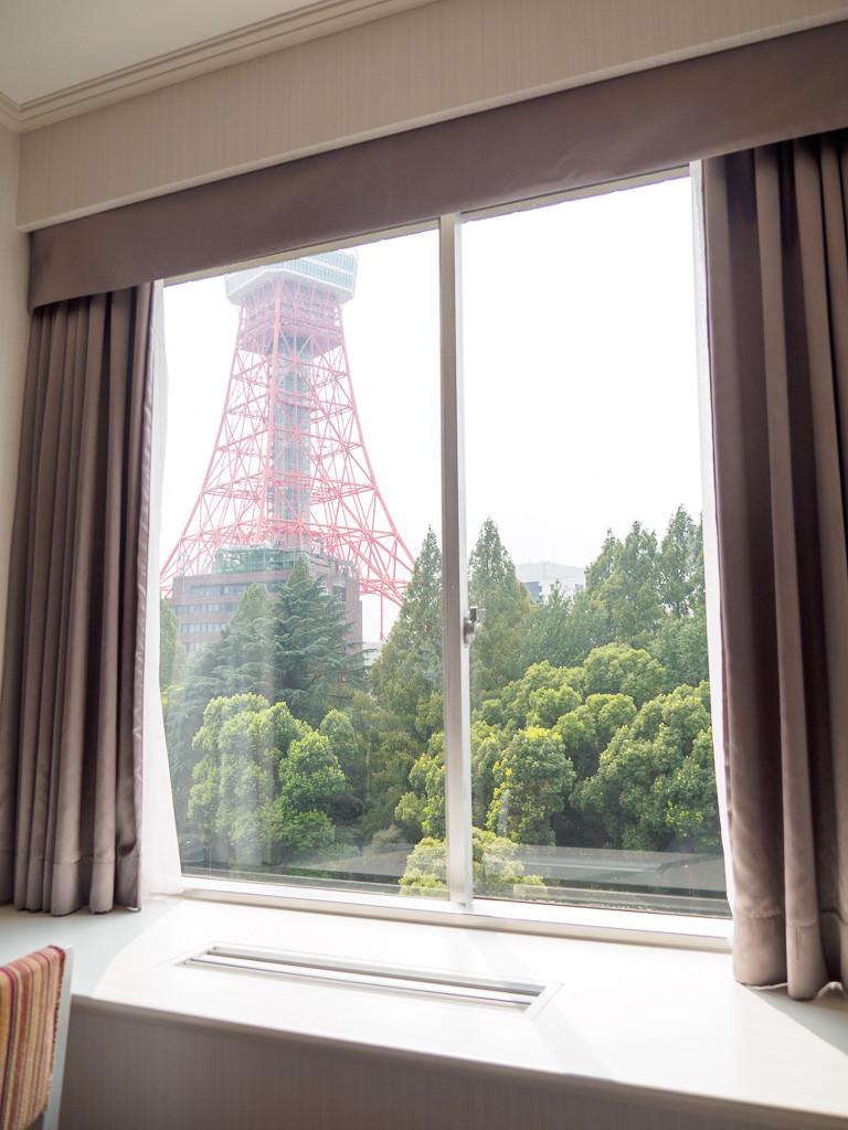 東京プリンスホテル 8階の部屋の窓より