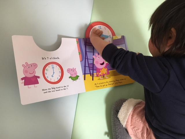 時計が学べる英語絵本